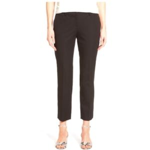 NWT Halogen Ankle Crop Stretch Pants Length Black